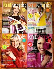 Lot of 4 - KNIT SIMPLE MAGAZINE - Winter 07/8, Spring/Summer, Fall, Holiday 2008