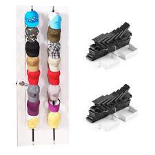 2Pcs Baseball Cap Hat Holder Rack Storage Organizer Over The Door Hanger w/Hooks