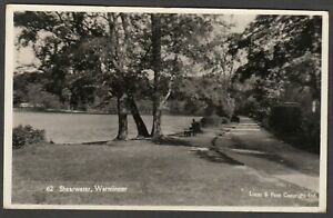 Postcard Warminster Wiltshire view of Shearwater posted 1934 RP
