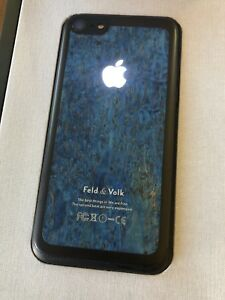 Genuine Feld & Volk Hadoro iPhone 7 Dark Blue Wood Extremely RARE SOLD OUT NEW