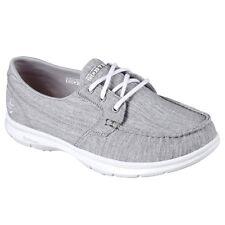 Zapatos planos de mujer textiles Skechers color principal gris