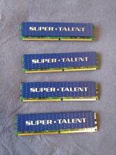 4 sticks - Super Talent Memory Card T800UX2GC5 STT Kit (2x1GB) DDR2-800 PC6400