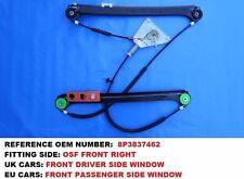 AUDI A3 8P 3 Door 2004 - 2012 Driver Front Window Mechanism Regulator 8P3837462A