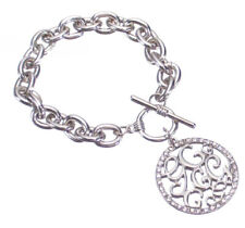 Guess Bracelet Silver Crystal G Charm Logo Gift Jewelry