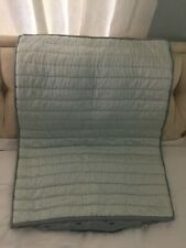 Gorgeous  Standard Size Quilted Pillow Sham Pottery Barn Velvet !