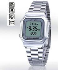 Stainless Steel Bracelet Islamic Gift Muslim Azan Prayer Alarm Watch LCD Light