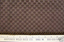 Woven Fabric Velvet Velour Rasied Square Check Shades Brown w/ Cord Trim Sewing