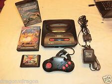 Sega Mega Drive II 2 Schwarz Konsole, inkl. 4 Spielen & Netzt., PAL-Version