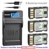 Kastar Battery LCD Charger for JVC BN-VF808 BN-VF808U & JVC GZ-HD260 Camcorder
