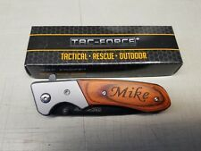 Personalized Engraved TAC-FORCE Pocket Knife with Clip Groomsmen Custom Gift