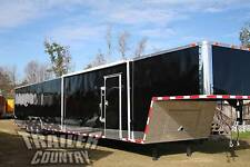 NEW 2018 8.5 X 52 ENCLOSED GOOSENECK CARGO CAR HAULER TRAILER LOADED