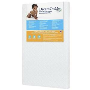 "Dream On Me, Holly 3"" Fiber Portable Crib Mattress I Waterproof I Green Guard"