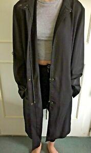 NUAGE - black long straight jacket/coat - Size 16