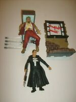 Marvel PUNISHER DIAMOND SELECT LEGEND FIGURE & DIORAMA BASE LOOSE