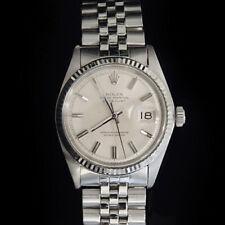 Rolex Datejust Men Stainless Steel 18K White Gold Watch Jubilee Silver Dial 1601