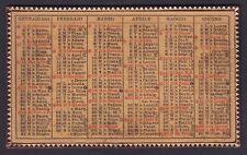 CALENDARIETTO 1931 SEMESTRINO finta pelle - old pocket calendar