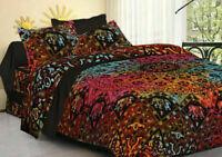 King Size Mandala Hippie Gypsy Indian Quilt Duvet Cover Tie Dye Star Bedding Set