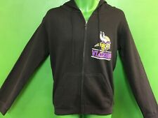 W397/590 NFL Minnesota Vikings Full-Zip Black Junk Food Hoodie Men's Small NWOT