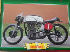CARTE FICHE MOTO NORTON MANX 1962