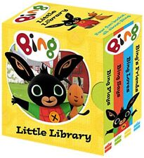 Bing's Little Library Book Set 4 Mini Board Books Babies Toddlers Children Gift