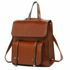 Women Backpack Travel Genuine Leather Shoulder School Bag Handbag Rucksack