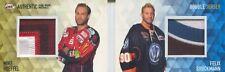 17-18 DEL Double Jersey TK17 Felix Brückmann Mike Hoeffel Bremerhaven Wolfsburg