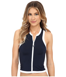 SEAFOLLY Block Party Rash Vest/Tankini Top, SWIMWEAR Size: M (UK10), rrp:us$99.5
