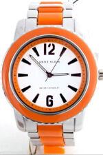 Anne Klein AK 1195 Two Tone Steel and Orange Womens Watch