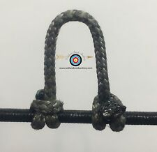 3 Pack- Speckled  Silver/Black  Archery Release Bow String D Loop, BCY #24