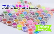 72 Loose GLITTER Eye shadow Face Body Painting Craft Nail Art Holographic Dust