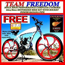 MONSTER POWER DIY 2-STROKE 66cc/80cc MOTORIZED BICYCLE KIT WITH ROCKET PIPE
