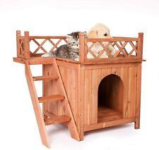 New listing Vilobos Wood Dog House Pet Cat Puppy Home Kennel Platform Indoor Outdoor Shelter