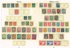 RHODESIA COLLECTION OF GOOD/FINE MINT AND USED ON IMPERIAL PAGES (3 SCANS)