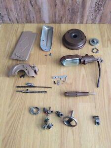 Singer 185K Sewing Machine Various Parts.  Light, Hand Wheel, Bobbin Winder ++
