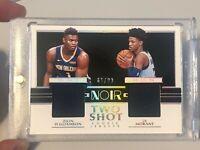 Zion Williamson Ja Morant NOIR Rookie Dual Shot RC Swatch /99 Read Description