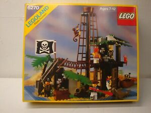 1989 LEGO FORBIDDEN ISLAND 6270  6265 6235 6245 WITH BOX INSTRUCTIONS AS IS