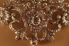 Floral Crystal Necklace and Earring Set Elegant Bridal
