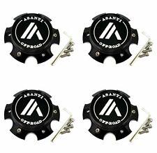 4 Asanti Black Wheel Center Caps 6L AB813 Cleaver AB814 Windmill AB815 Workhorse