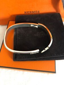 "HERMES .Bracelet    ""  JONC    "" argent massif  925 Ag Modèle RARE"