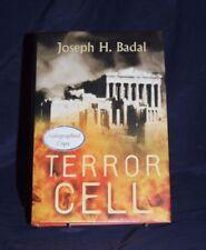 SIGNED Terror Cell Joseph H. Badal 1st ed HC/DJ danforth saga 2 thriller,mystery