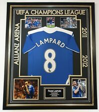 Frank Lampard Signed Photo Picture with 2012 Chelsea Shirt Autographed Jersey
