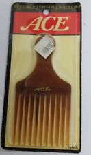 Vintage ACE Brown Hair Pick Comb Hard Rubber 5 Inch 1993 #64376  NEW