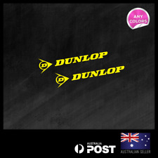 2x DUNLOP TYRES SMALL STICKER DECAL MOTOCROSS MOTOR CYCLE CAR RACING  90x20mm