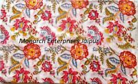 Indian 10 Yards Cotton Fabric Hand Block Printed  Indian Sewing Women CraftingHP