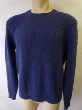 mens RALPH LAUREN Polo blue crewneck angora rabbit hair wool sweater shirt sz XL