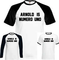 As Worn By Arnold Schwarzenegger Is Numero Uno Mens T-Shirt Gym Top Training