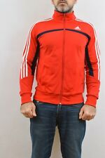 Adidas Vintage 90s Tracksuit Top Jacket Red White Casuals Shiny Sheen NICE S FAB