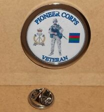 The Pioneer Corps Veteran Veteran lapel pin badge.