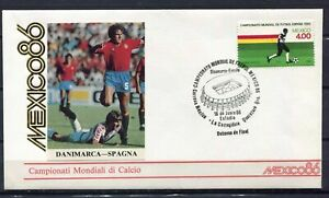 S13590) Mexico 18.6.1986 FDC Fifa Wc Football Denmark Spain