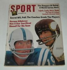 November 1965 SPORT MAGAZINE COLTS JOHNNY UNITAS TOMMY MASON VIKINGS NOTRE DAME
